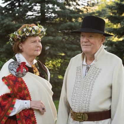 Vaira Vīķe Freiberga un Imants Freibergs
